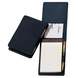 Royce Journalist-Style Leather Flip Notepad